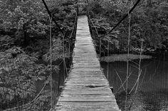 Swinging bridge in Harlan County County, KY