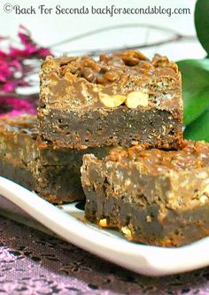 Better Than Crack Brownies @Beverly Kaine For Seconds #brownierecipe #crackbrownies #fudge