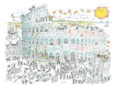 """Puzzle """"Colosseo"""". #formiche #puzzle #colosseo #roma"""