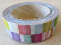 Washi Tape  1 Roll  Multicolor Checkered Print  by HazalsBazaar