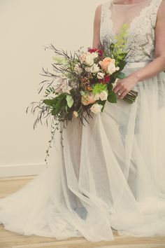 Vintage Themed Wedding Inspiration + A Beautiful Watters Gown|Photographer: K+B Photography