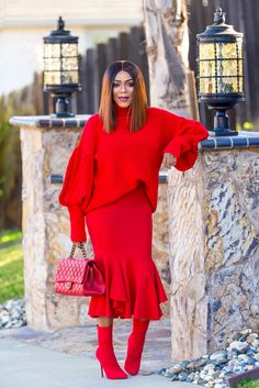 Monochrome Red Look