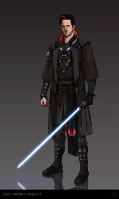 A wandering swordsman, his blade for hire star wars characte Star Wars Jedi, Rpg Star Wars, Star Wars Characters Pictures, Star Wars Images, Trajes Star Wars, Jedi Armor, Jedi Sith, Sith Lord, Jedi Cosplay