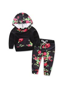 574816fe873b Baby Girl Clothes Askwind Baby Girls Floral Hoodie+ Floral Pant Set ...