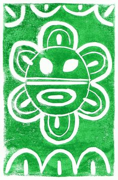 Taino Sol/Sun - 5x7 linocut print. $10.00, via Etsy by John Gascot @latinpop  (www.gascot.com), of Bayamon, Puerto Rico for Hispanic Heritage Month, art & gifts. Free exhibit http://prlog.org/11938982 'til Oct 10th #DC #VA #MD