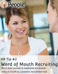 HR Tip #2   Word of Mouth Recruiting