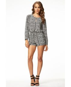Tribal Print Romper | FOREVER21 This #BlackAndWhite #Romber is perfect for #Summer