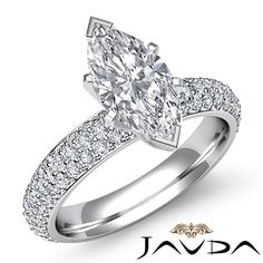 Flashy Marquise Cut Diamond Pre Set Engagement Ring EGL F VS1 Platinum 2 08 Ct | eBay