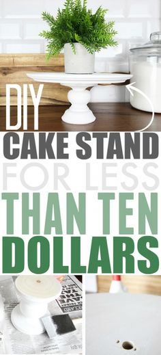 This DIY cake stand will come in handy for so many baking and decorating situations! You can make one yourself for so much less than it costs to buy one! is part of Diy cake stand - Cake Stand Decor, Rustic Cake Stands, Wooden Cake Stands, Homemade Cake Stands, Homemade Cakes, Diy Wedding Cake, Wedding Cake Stands, Wedding Ideas, Boho Wedding