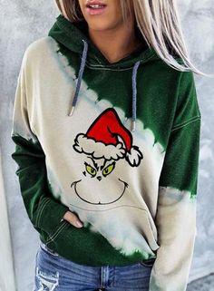 Loungewear Set, Tie Dye Hoodie, Christmas Sweaters, Christmas Hoodie, Christmas Clothing, Grinch Christmas, Types Of Sleeves, Daily Fashion, Lounge Wear