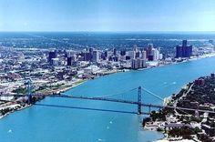 Windsor, Canada and Detroit, Michigan