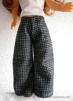 pantalon,pantalones paño de lana para nancy cosido a mano, muñeca no incluida