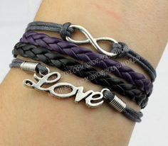 Jewelry bracelet infinity wish bracelet love bracelet by handworld, $4.99