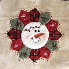 Christmas snowman wreath