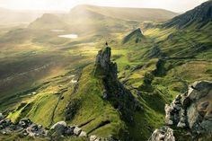 Quiraing area, isle of Skye. Skye or the Isle of Skye is the largest and most northerly large island in the Inner Hebrides of Scotland. Photo by: Ionisation Walk Around The World, Around The Worlds, Foto Nature, Island Of Skye, Scotland Landscape, Epic Photos, Amazing Photos, Parc National, Amazing Nature