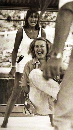 Princess Grace of Monaco and her daughter Caroline having fun ~ 1978