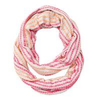 Sequin Stripe Infinity Loop Scarf - Bedecked with radiant rows of day-glo sequins, this eye-catching infinity style adds playful pizzazz.