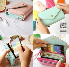 New Multifunctional Envelope Wallet Purse Phone Case for iPhone 5 Galaxy S2 S3 | eBay