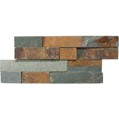 Anatolia Tile Oxide Ledgestone Natural Stone Random Indoor/Outdoor Wall Tile (Common: 6-in x 12-in; Actual: 5.9-in x 11.81-in)