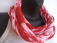 Infinity Scarf  Tie Dye Red Color by sister9designs on Etsy, $15.00