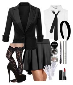 """See"" by moony1026 ❤ liked on Polyvore featuring Glamorous, Bobbi Brown Cosmetics, Doublju, Kat Von D, Emporio Armani and Giuseppe Zanotti"