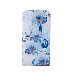 Sininen kukkakuvio PU Leather Full Body Case for Samsung Galaxy S5 I9600 – EUR € 13.99