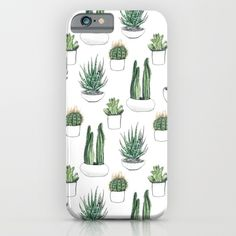 watercolour cacti and succulent iPhone & iPod Case$35.00 https://society6.com/product/watercolour-cacti-and-succulent_iphone-case?curator=alexxxxx