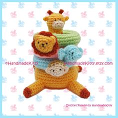 Kirin Giraffe Jungle Stacker Amigurumi PDF Crochet Pattern by HandmadeKitty. $5.99, via Etsy.
