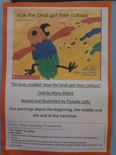 ponderings, possibilities and provocations: How the Birds got their Colours Aboriginal Education, Indigenous Education, Aboriginal Culture, Indigenous Art, Kindergarten Colors, Kindergarten Activities, Childcare Activities, Naidoc Week Activities, Learning Stories Examples
