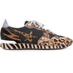 Golden Goose Deluxe Brand Wild Edition Superstar sneakers ($665) ❤ liked on Polyvore featuring men's fashion, men's shoes, men's sneakers, brown, mens brown leather sneakers, mens brown leather shoes, mens brown shoes, mens leather shoes and g star mens shoes