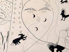 """""""Autorretrato en Nueva York"""" un dibujo de García Lorca de los años 30."""