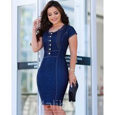 Classic Outfits, Dress Sandals, Ideias Fashion, Bodycon Dress, Short Sleeve Dresses, Fashion Outfits, My Style, Lady, How To Wear