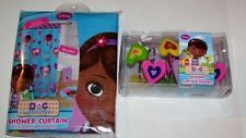 She Will Love Bath Time When Sees This Disney Doc McStuffins Bathroom Set Includes Microfiber McStuffin Shower Curtain