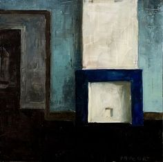 blue fireplace - oil on wood pannel 25 x 25cm (SOLD)  #originalart #paintanyway #stillife #brushporn #figureativeart #fineart #sketchbook #doodle #oilpainting #instaart #instaartist #contemporaryart #traditional #realism #brushstrokes #artforsale #fireplace  made in #toulouse with #love