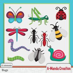 Bugs and Creepy Crawlies Commercial Use Clip Art