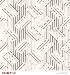 Vector seamless pattern. Modern stylish texture. Geometric striped ornament. Monochrome linear braids