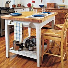 How to build a butcher block island at thisoldhouse.com | from 26 Easy Kitchen Upgrades