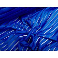 Sheer Stripe spandex- electric blue