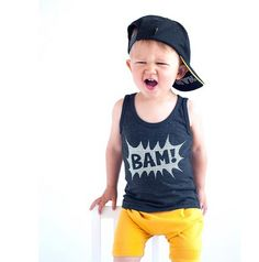 BAM Tank Top by Wee Monster.  www.weemonster.net