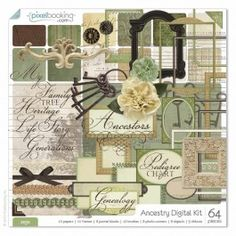 Ancestry Digital Kit - Sage $10.99 [I've seen this kit in mauve, too]