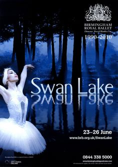 Ballet Posters, Swan Lake Ballet, Ballet Photos, White Swan, Royal Ballet, Ballet Beautiful, Advertising Campaign, Ballet Dance, Graphic Design