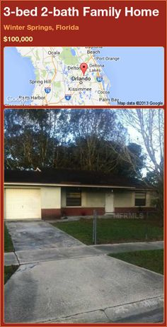 3-bed 2-bath Family Home in Winter Springs, Florida ►$100,000 #PropertyForSale #RealEstate #Florida http://florida-magic.com/properties/92910-family-home-for-sale-in-winter-springs-florida-with-3-bedroom-2-bathroom