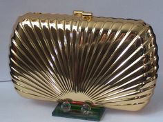 Gold Silver Plated Shell Pattern Metal Case Purse Clutch Cocktail Evening Bag | eBay -  US $34.90