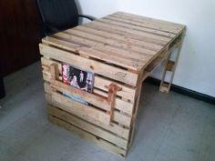 Escritorio fabricado con pallets 100% recicladas.  #creco_creaciones_ecologicas