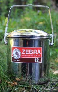 Zebra Stainless Steel Billy Can 12cm