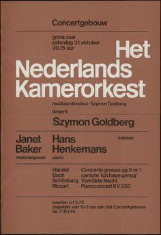 Wim Crouwel — Het Nederlands Kamerorkest (196?)