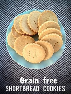 Sugar-Free Shortbread Cookies. (Gluten/Grain/Egg/Dairy Free with a Paleo option)