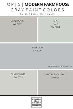 Paint Palette Selection — Melissa Joan Vincent - Best paint colors for whole house - Bedroom Paint Colors, Paint Colors For Home, Living Room Colors, Calming Bedroom Colors, Basement Wall Colors, Small Bathroom Paint Colors, Coastal Paint Colors, Blue Gray Paint Colors, Modern Paint Colors