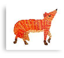 Adorable Fox Metal Print Orange Art, Red Art, Nursery Paintings, Nursery Art, Framed Prints, Canvas Prints, Art Prints, Original Artwork, Original Paintings