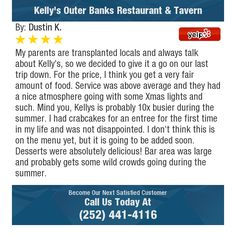 My parents are transplanted locals and always talk about Kelly's, so we decided to give it...